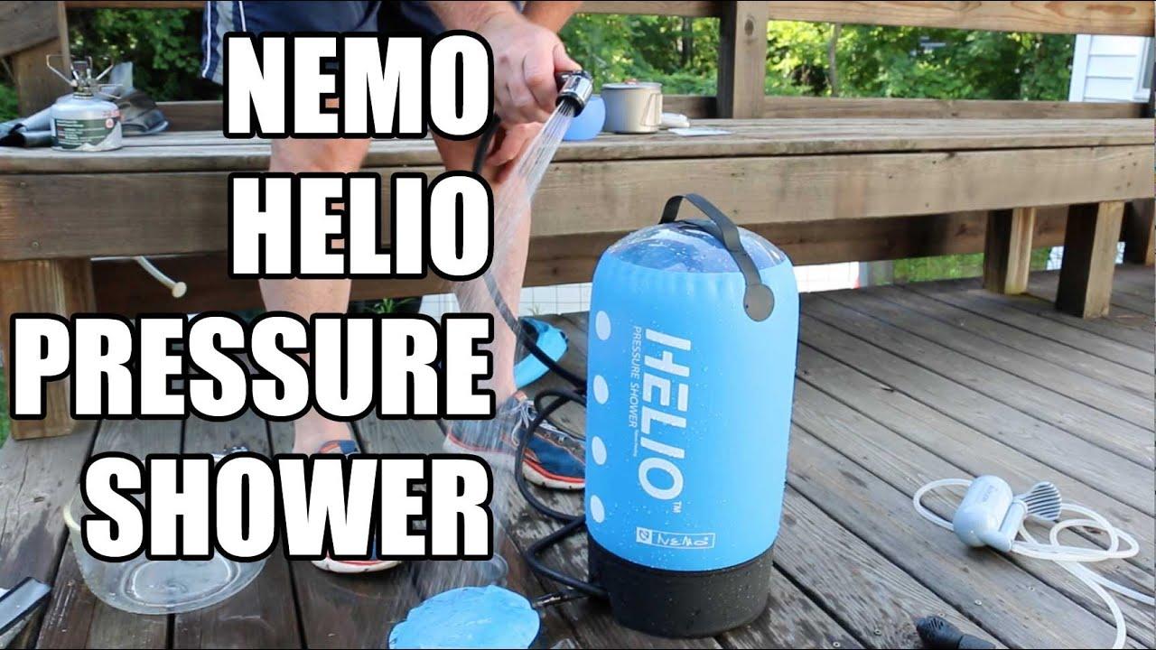 NEMO HELIO PRESSURE SHOWER VS SEA TO SUMMIT POCKET SHOWER AND ...