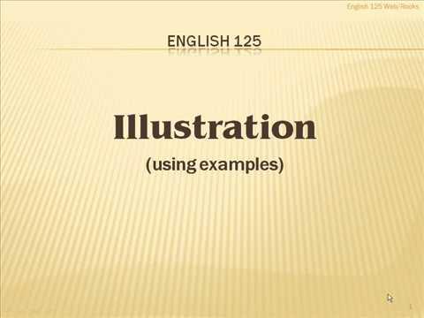 Видео Illustration paper examples
