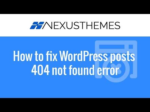 Fix when all WordPress posts produce a 404 not found error