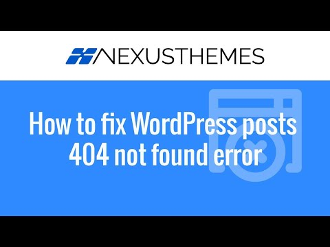 Fix when all WordPress posts produce a 404 not found error