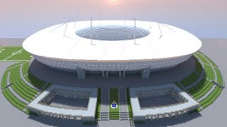 Minecraft - MEGABUILD - Gazprom/Zenit Arena (FC Zenit Saint Petersburg) + DOWNLOAD [Official]