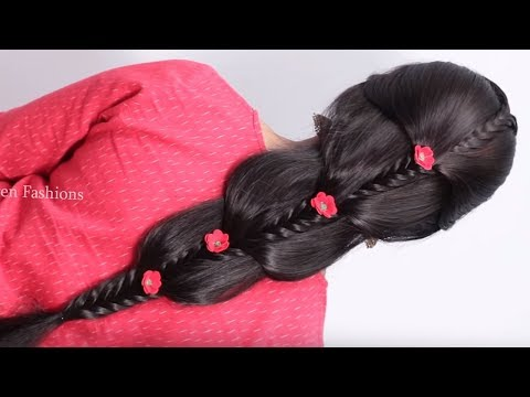 Very Different hairstyle for wedding functions || Easy & Quick Hairstyles 2019 | hair style girl thumbnail