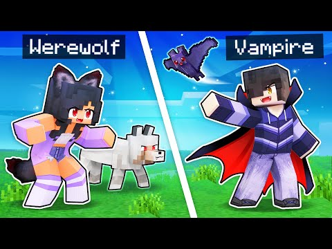 Minecraft But We're WEREWOLVES And VAMPIRES!