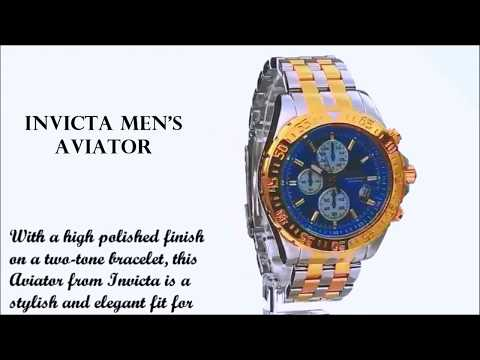 Invicta Men's Aviator 18851 Analog Display Two Tone Watch