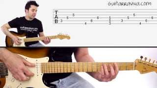 Como tocar guitarra eléctrica - Riffs de Deep Purple - Smoke On The Water