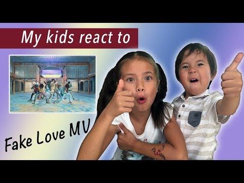 """Kids react to BTS """"Fake Love"""" MV"""