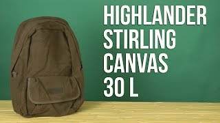 Розпакування Highlander Stirling Canvas 30 Brown 924246
