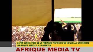 ALPHA CONDE CELEBRE PAR LA JEUNESSE DE GUINEE CONAKRY