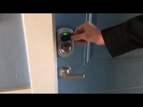How To Use Your Rfid Apartment Room Key Youtube
