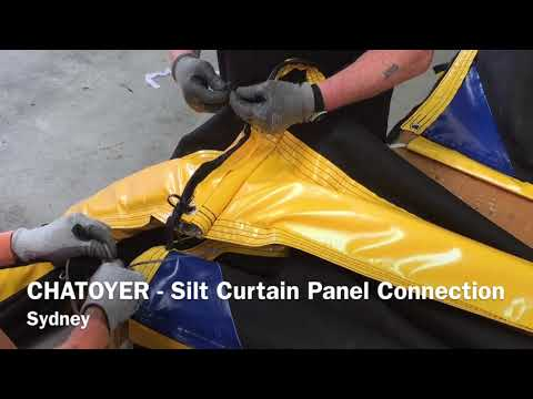 How to Connect Chatoyer Silt Curtain Sections