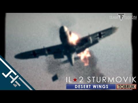 IL-2 Desert Wings - Tobruk: Guncam footage [In color!] |