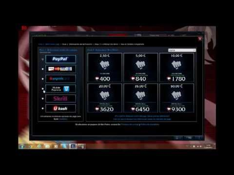 Bien connu Como comprar Riot Points en League of Legends - YouTube ZQ34