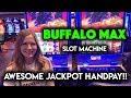 Sweet! JACKPOT HANDPAY Buffalo MAX Slot Machine!