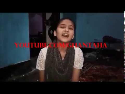 funny song by cute indian girl romantic song parody funny hindi song