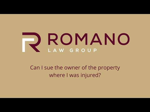 Can I sue the owner of the property where I was injured?
