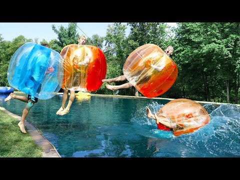 GIANT BUBBLE BALL CHALLENGE!!