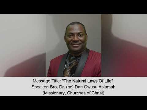 Download Bro. Dr. Dan Owusu Asiamah - The Natural Laws Of Life