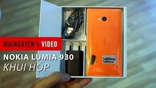 Khui hộp Nokia Lumia 930 chính hãng tại Mai Nguyên - www.mainguyen.vn