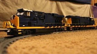 LEGO Power Functions Train System: Two CSX GEVOs Test Run