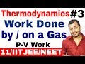 Class 11 Chapter 6 | Thermodynamics 03 | Work Done by a Gas | Work Done on a Gs | IIT JEE / NEET |