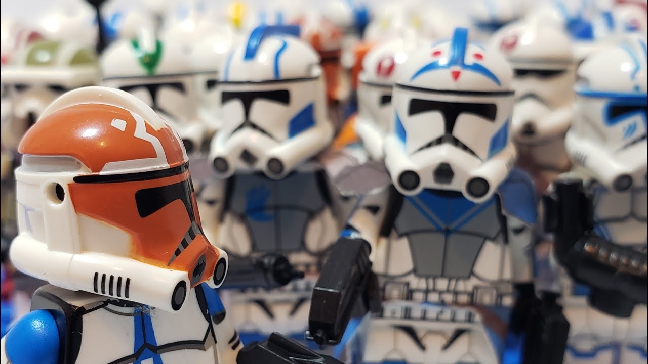 My HUGE Clone Army Customs Collection | 60+ Custom Lego Clone Troopers