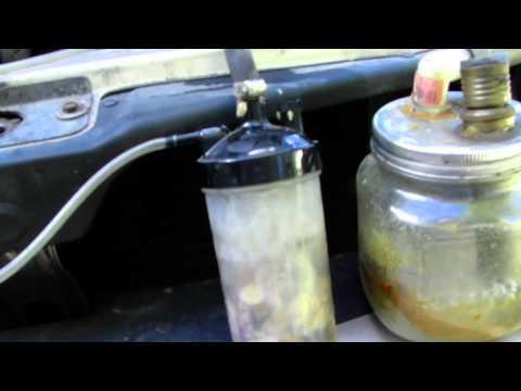 Water vapor induction via venturi pump improved