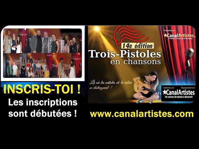 INSCRIS-TOI  DÈS MAINTENANT à la 14e édition de Trois-Pistoles en chansons !