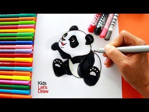Cómo Dibujar Y Pintar Un Oso Panda Paso A Paso How To Draw A Panda