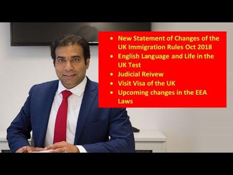 Immigration Updates with Khalid Bashir, 17 Oct 2018. Abbott & Harris Solicitors