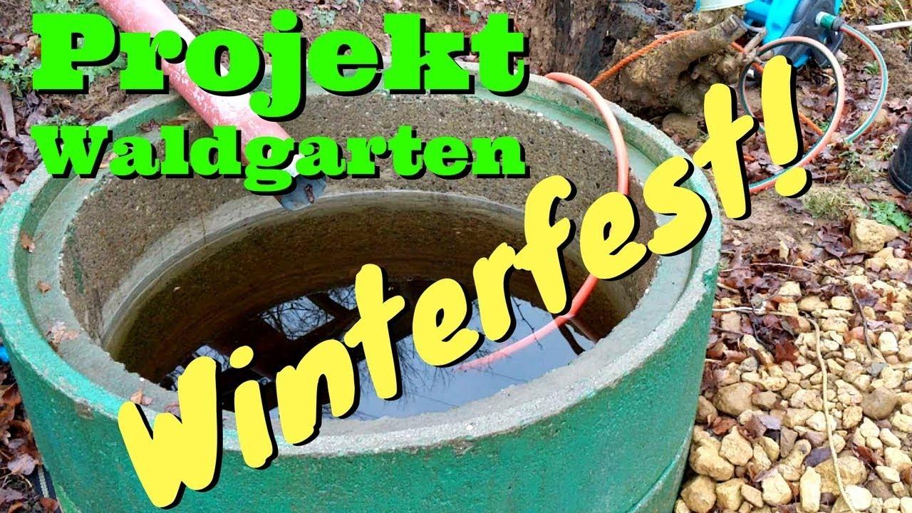 Garten Winterfest Machen Das Wasser Muss Raus
