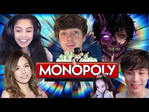Valkyrae plays Monopoly with Pokimane, CORPSE, Karl Jacobs, Sykkuno, Tina!