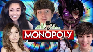 Valkyrae plays Monopoly with Pokimane, CORPSE, Karl Jacobs, Sykkuno, Tina!
