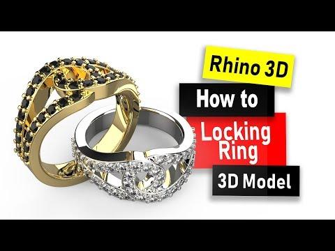 Design a Locking Ring Model in Rhino 6: Jewelry CAD Design Tutorial #84