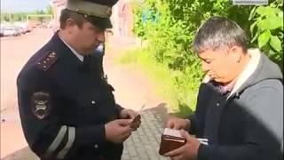 Смотреть видео ГИБДД Петербурга самостоятельно толкует закон о водителях-иностранцах! онлайн