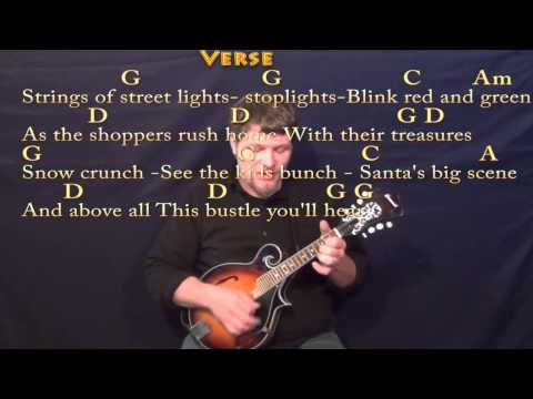 Silver Bells (Christmas) Mandolin Cover Lesson in G with Chords ...
