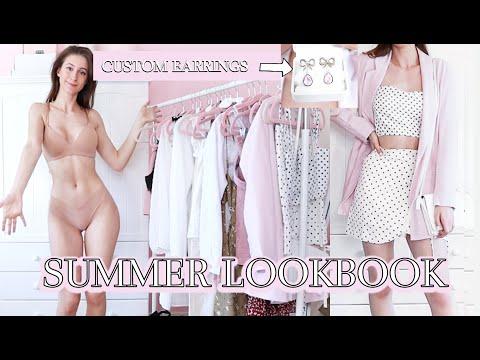 GIRLY SUMMER LOOKBOOK // SHEIN // CUSTOM EARRINGS