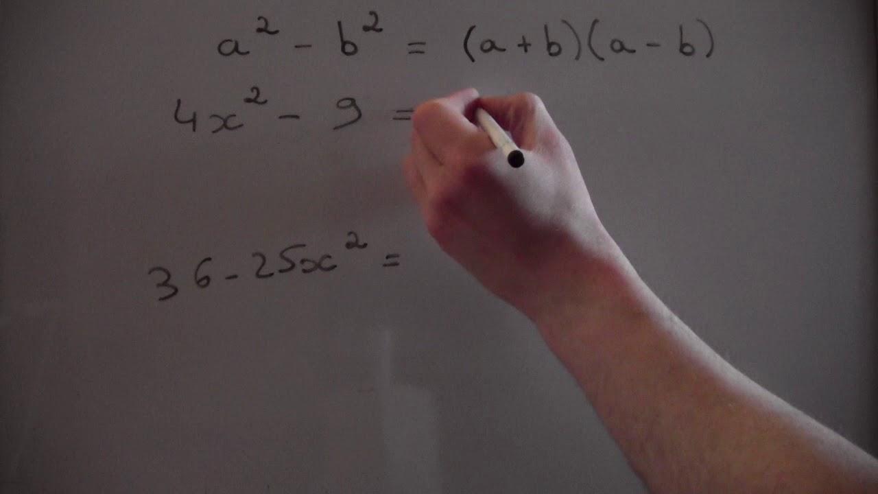 Exercices sur les identités remarquables : a² - b² - partie 4/5 - YouTube