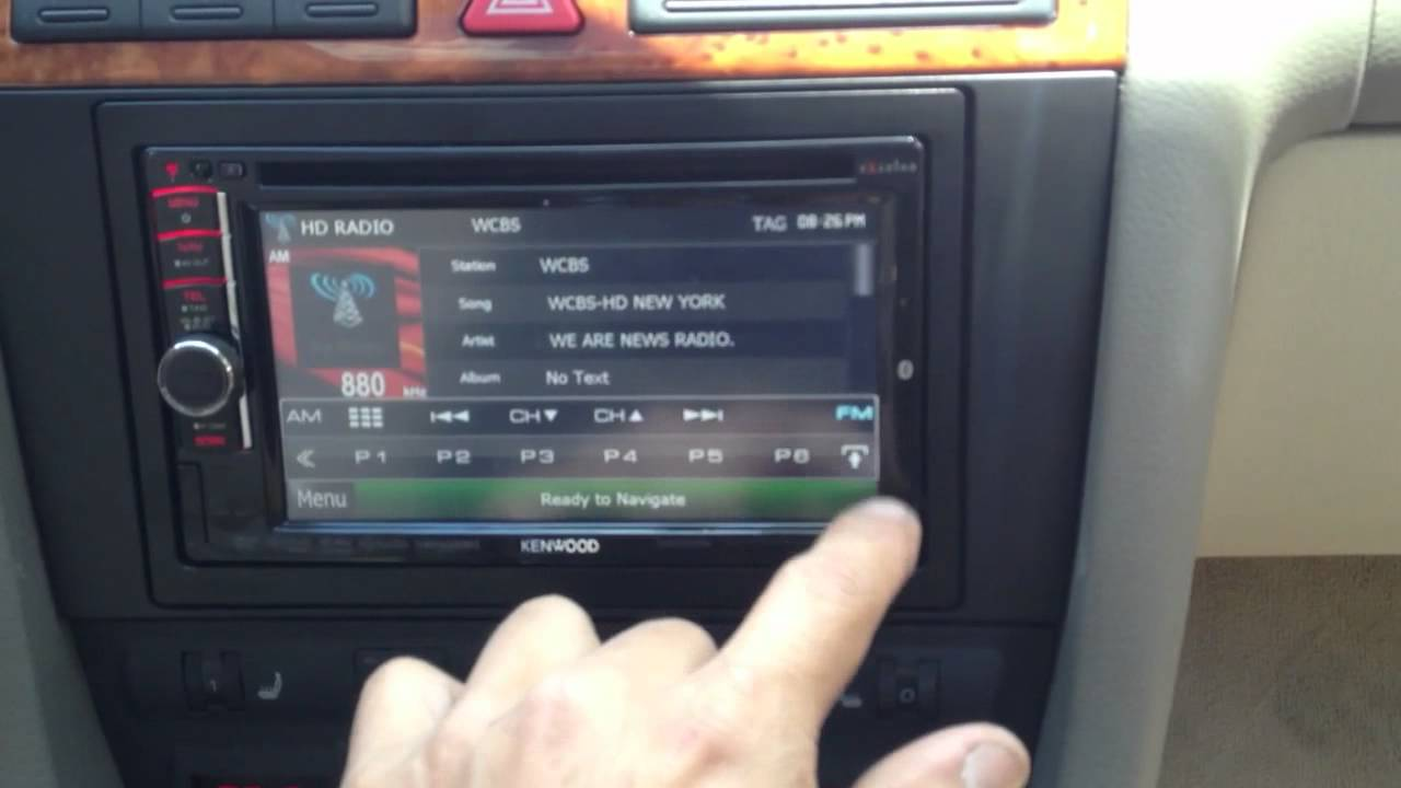 Audi A6 With Kenwood Double Din Youtube