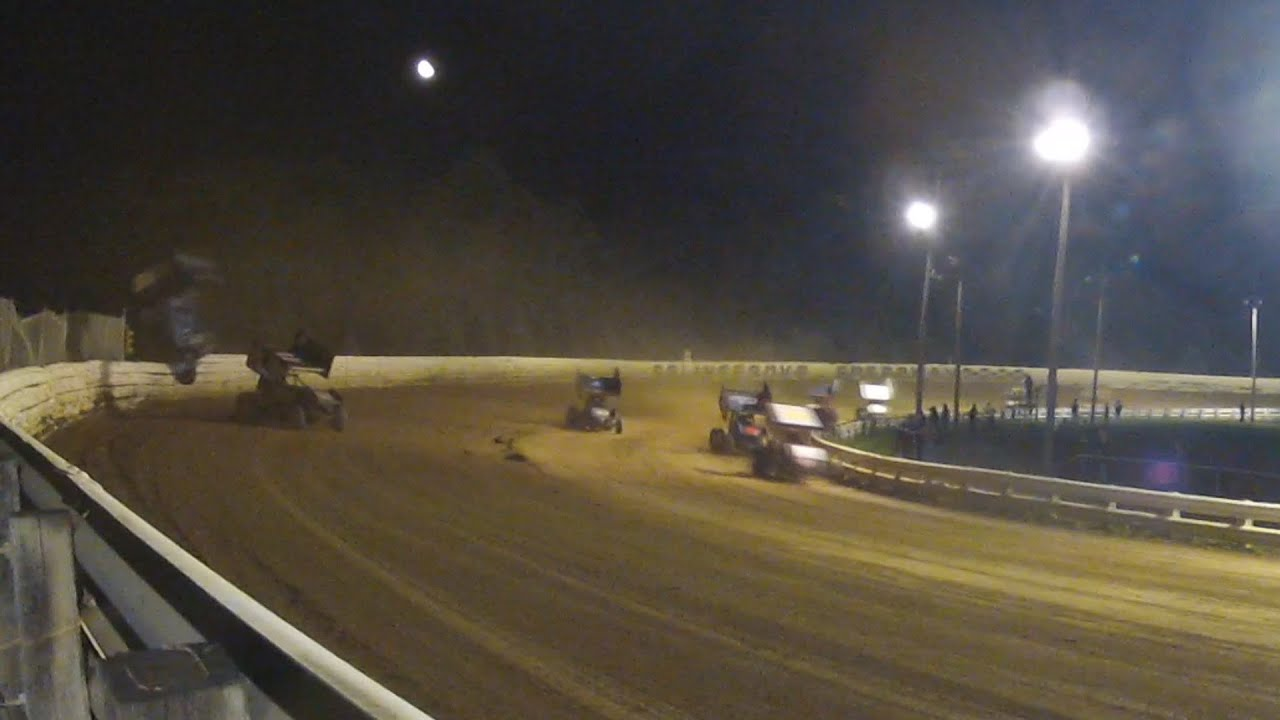 Selinsgrove speedway 410 sprint car highlights 9 13 14 youtube