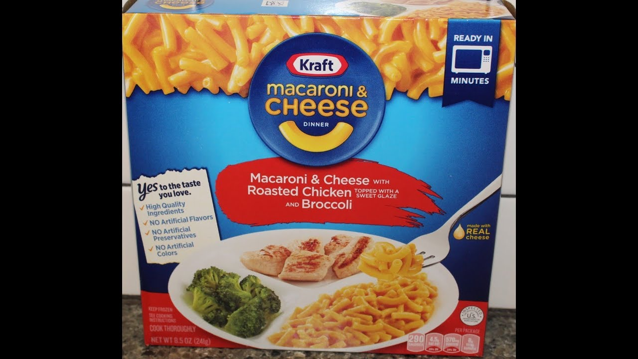 Kraft Macaroni Cheese Dinner Macaroni Cheese With Roasted Chicken Broccoli Review Youtube