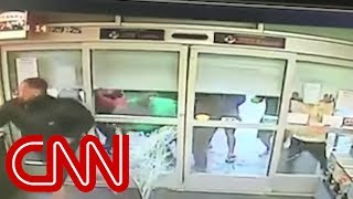 Video shows looters storm store in Puerto Rico