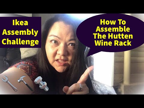 Ikea Assembly Challenge |How to Assemble the Hutten Wine Rack