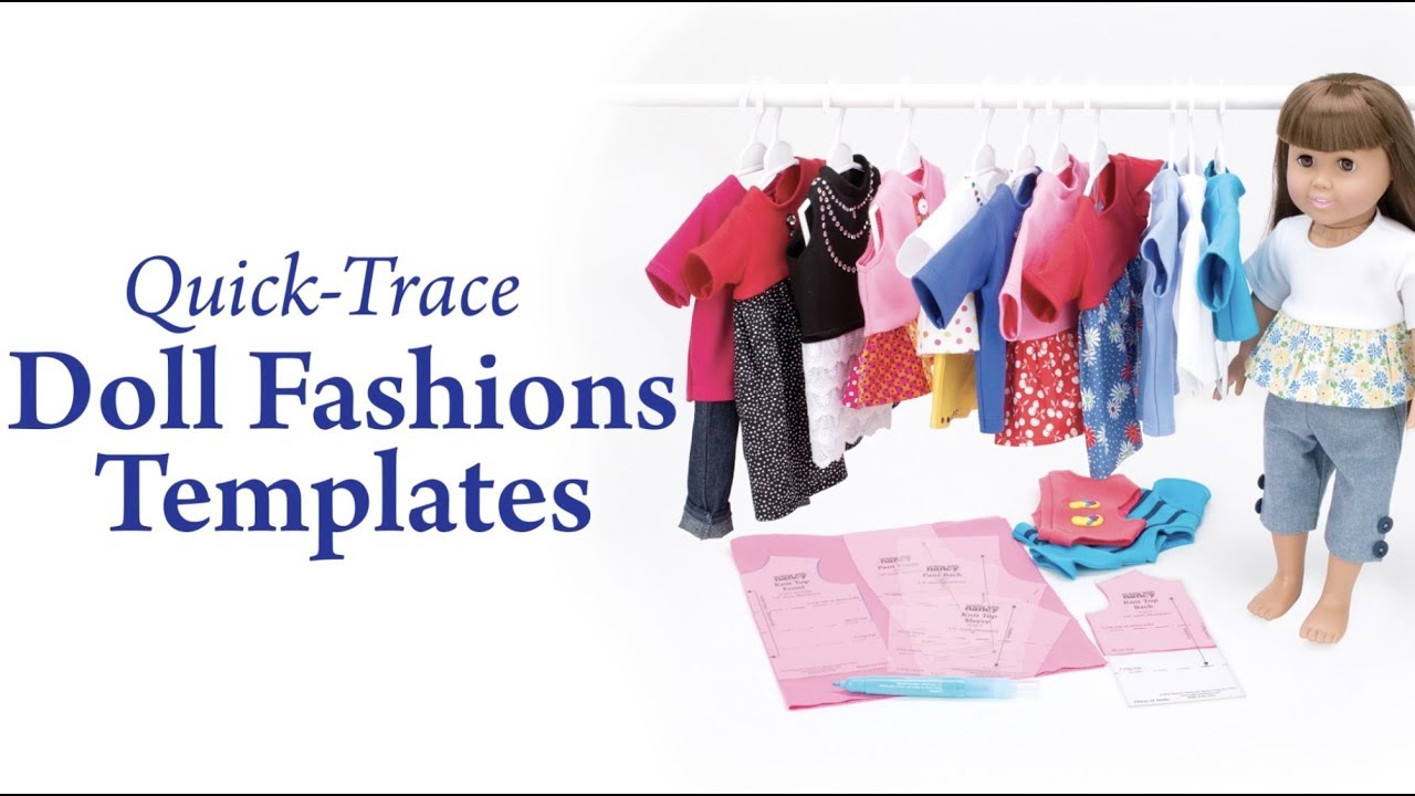 Quick-Trace Doll Fashions Templates - YouTube