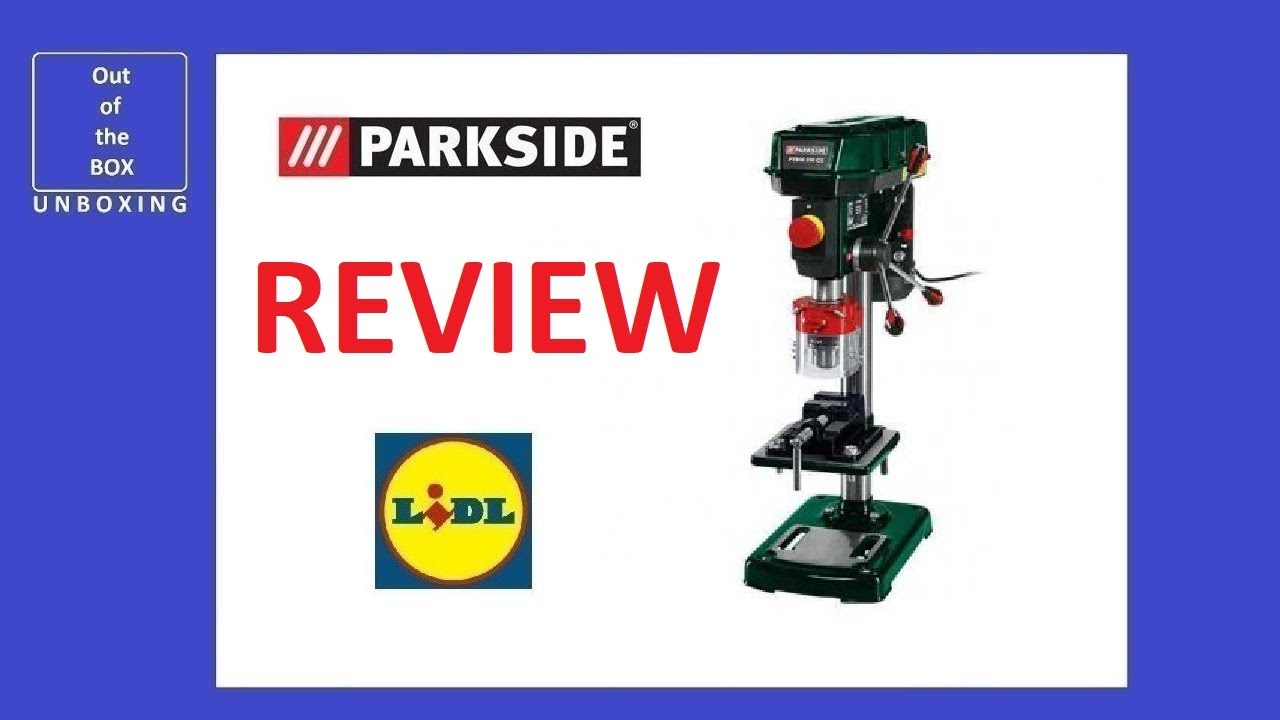 Review Parkside Bench Pillar Drill Ptbm 500 E5 Lidl 17kg 2500 Min 16 Mm 500w