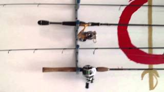 Easiest Homemade Fishing Rod Storage