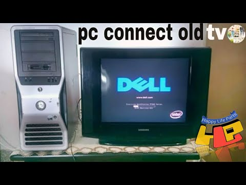 HDMI AV How To Connect PC Laptop To OLD TV LED TV HDTV