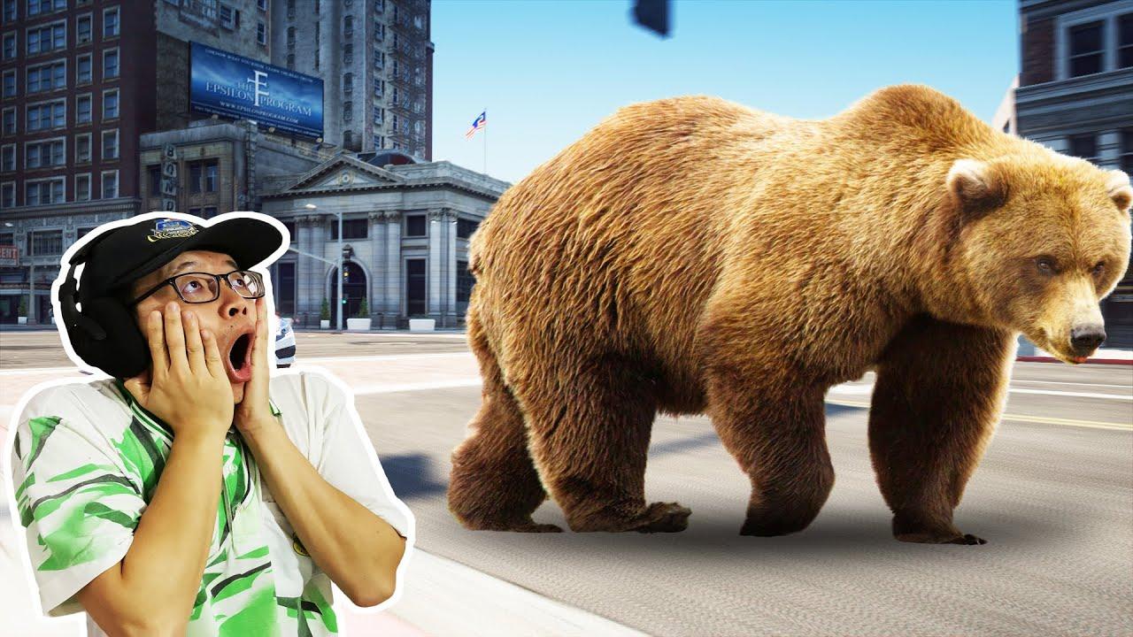 GTA5 大熊代替洛圣都警察干案!警熊救美!(太漂亮了!)