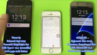 USB Type C -vs- Micro USB from 0% to 100%   Nexus 6P -vs- Galaxy S7