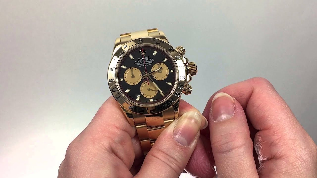 1bfe29111 How to Set the Time for the Rolex Cosmograph Daytona - YouTube