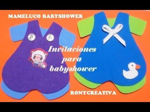 Cómo Hacer Mameluco De Bebe Invitación Baby Shower Diy Ronycreativa